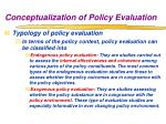 conceptualization of policy evaluation6
