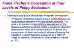 frank fischer s conception of four levels of policy evaluation5