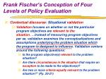 frank fischer s conception of four levels of policy evaluation6