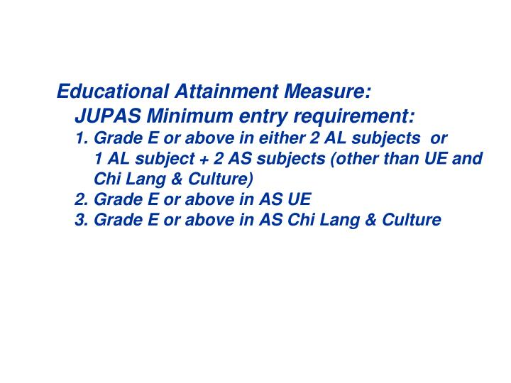 Educational Attainment Measure: