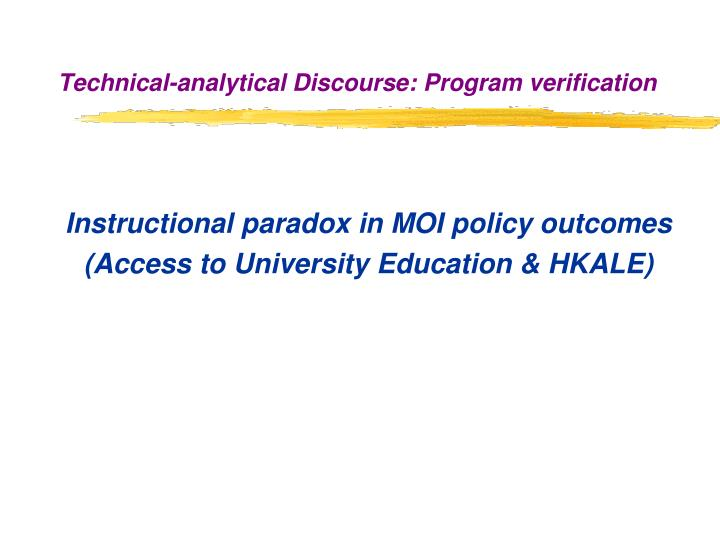Instructional paradox in MOI policy outcomes