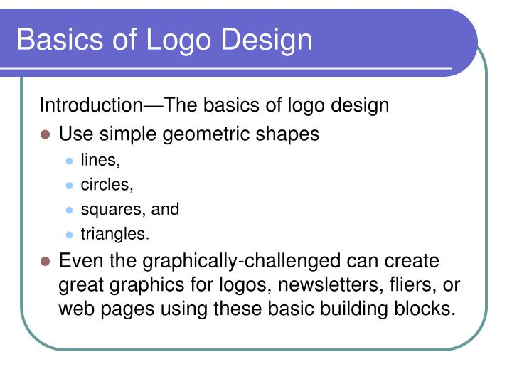 Basics of logo design