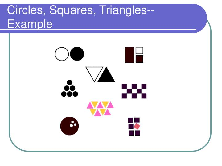 Circles, Squares, Triangles--Example