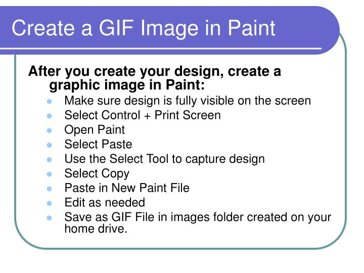 Create a GIF Image in Paint