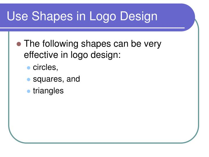 Use Shapes in Logo Design