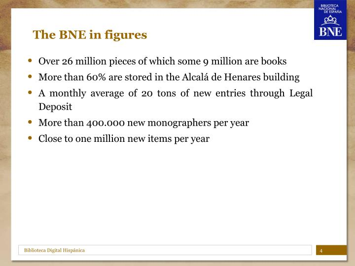 The BNE in figures