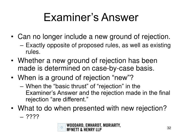 Examiner's Answer