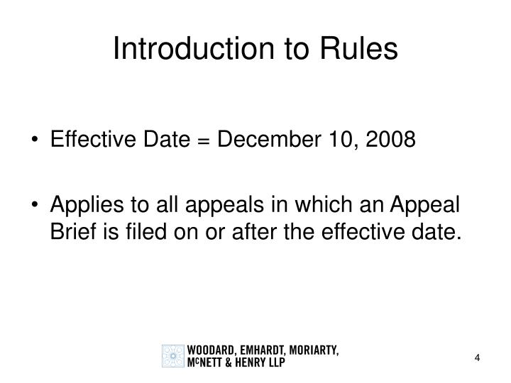 Introduction to Rules