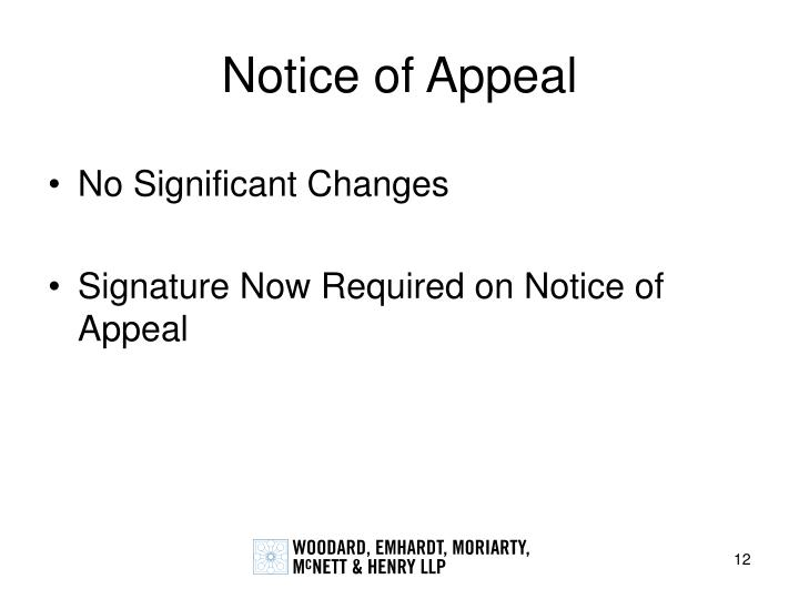 Notice of Appeal