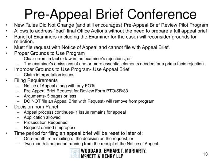 Pre-Appeal Brief Conference
