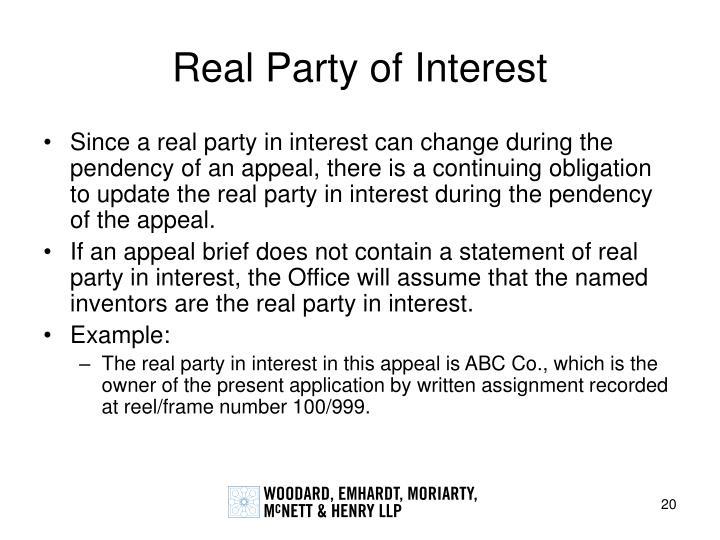 Real Party of Interest