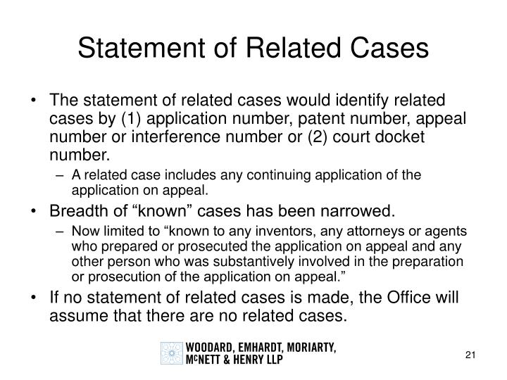 Statement of Related Cases