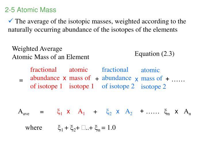 2-5 Atomic Mass