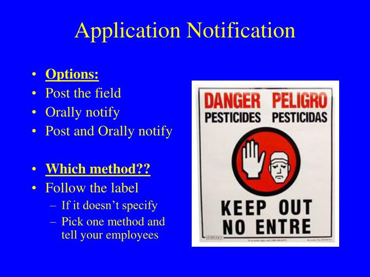 Application Notification