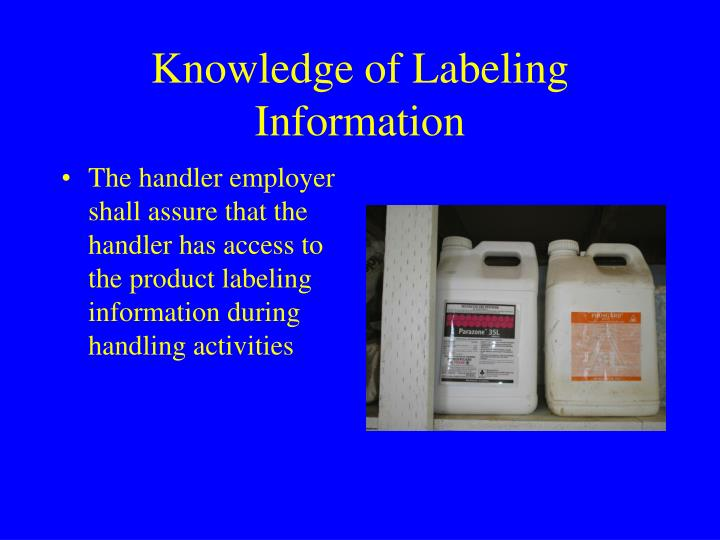 Knowledge of Labeling Information