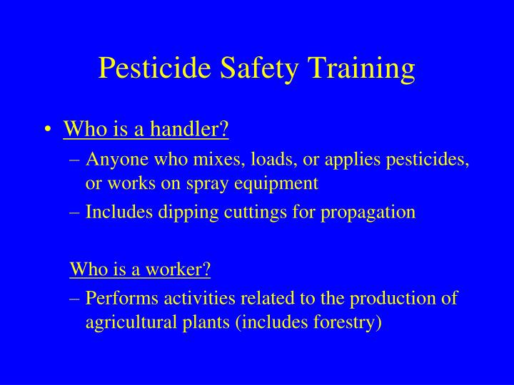 Pesticide Safety Training