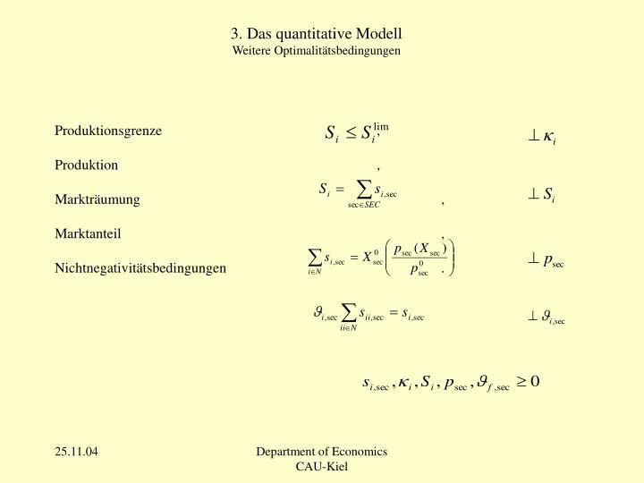 3. Das quantitative Modell