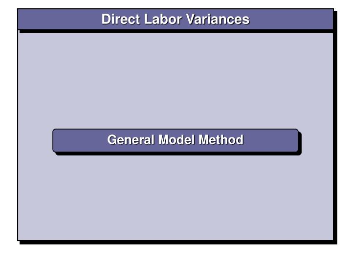 Direct Labor Variances