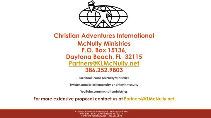 Christian Adventures International