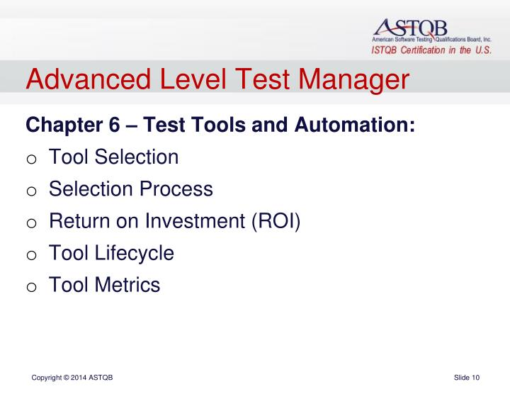 Advanced Level Test Manager