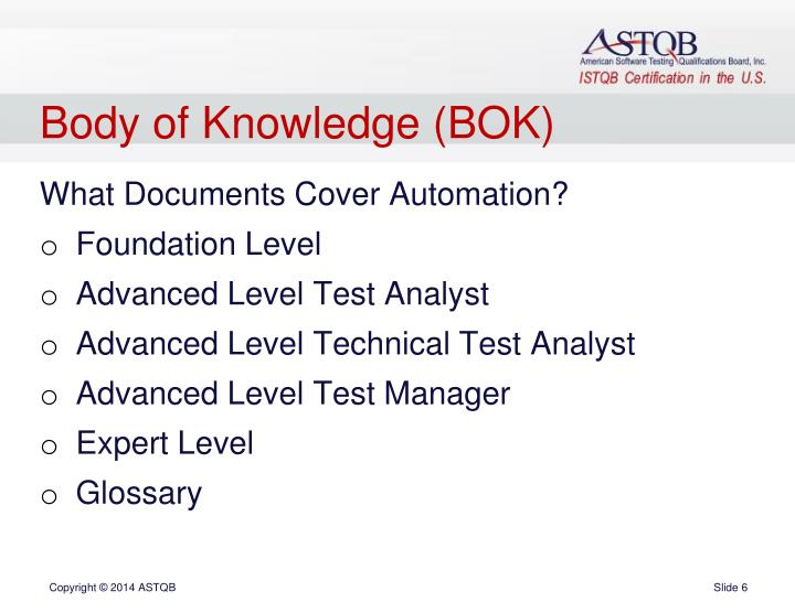 Body of Knowledge (BOK)