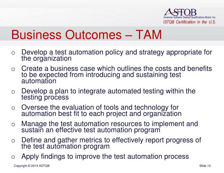 Business Outcomes – TAM