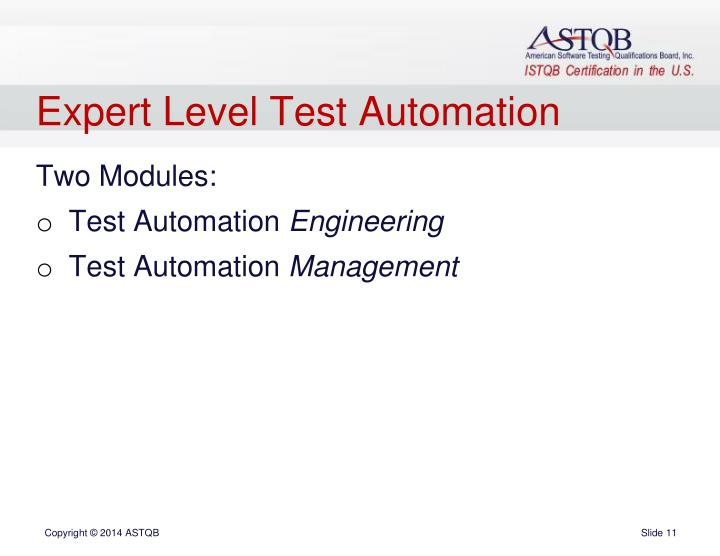 Expert Level Test Automation