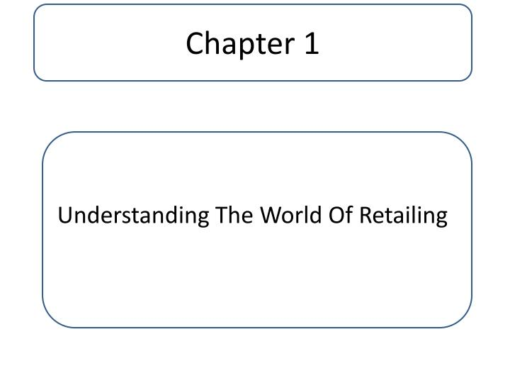 introduction to the world of retailing