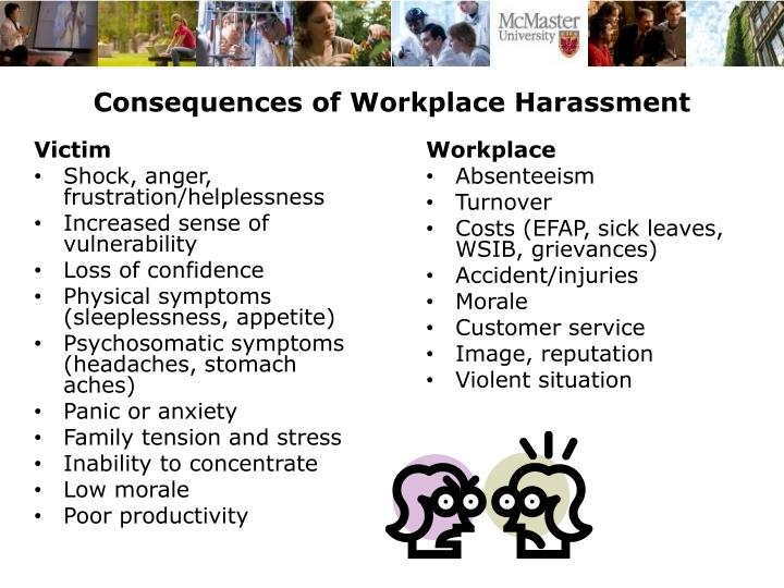 Consequences of Workplace Harassment