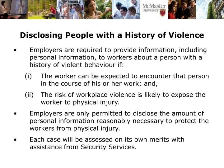Disclosing People with a History of Violence