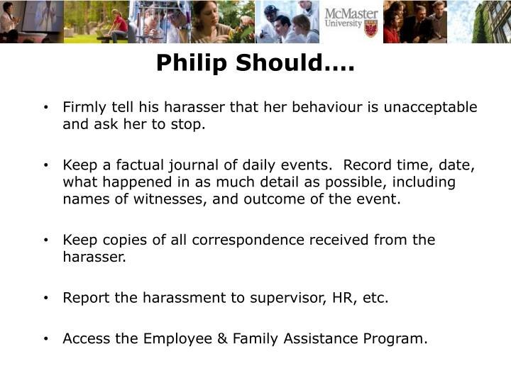 Philip Should….