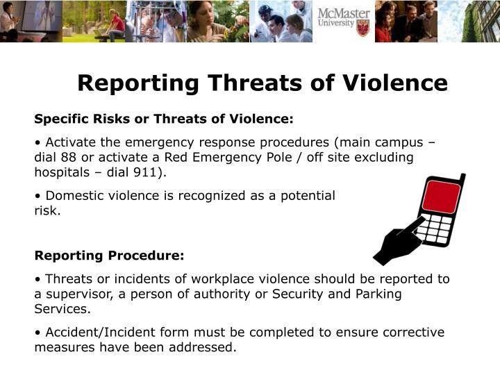 Reporting Threats of Violence