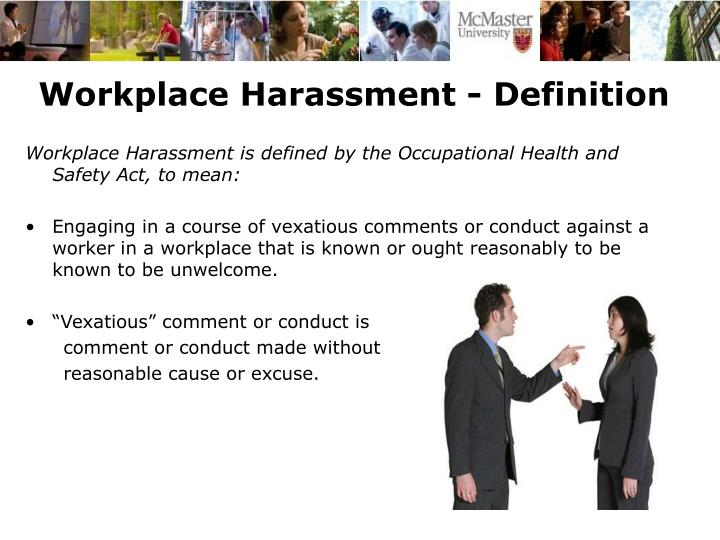 Workplace Harassment - Definition