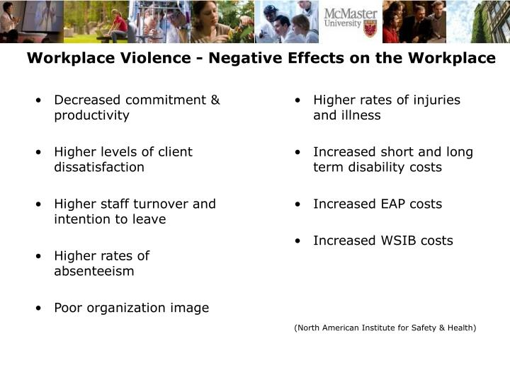 Workplace Violence - Negative Effects on the Workplace