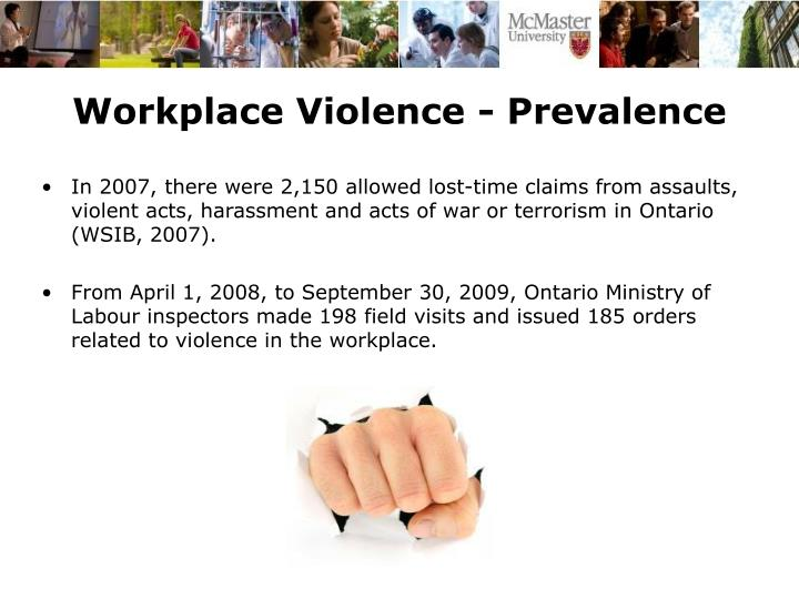 Workplace Violence - Prevalence