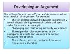 developing an argument1
