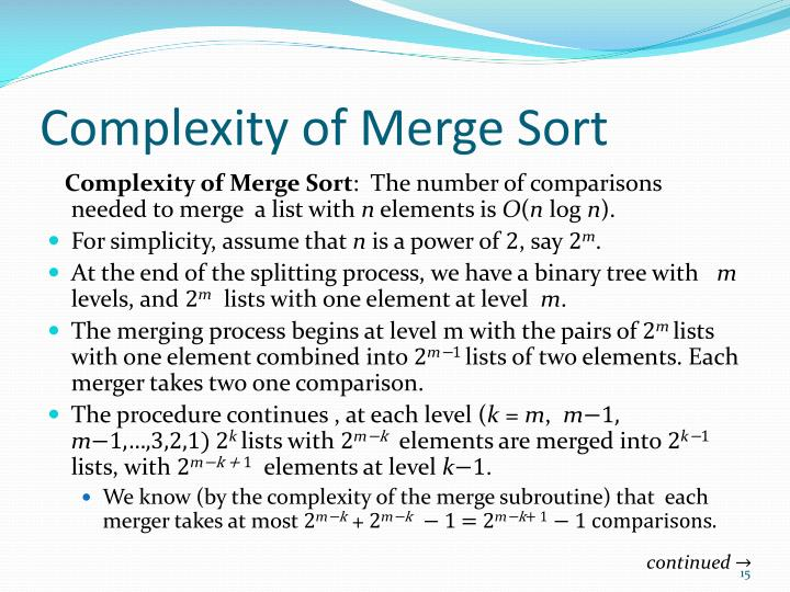 Complexity of Merge Sort