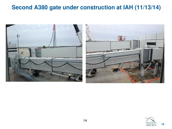 Second A380 gate under construction at IAH (11/13/14)