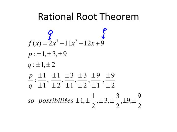 Rational root theorem1