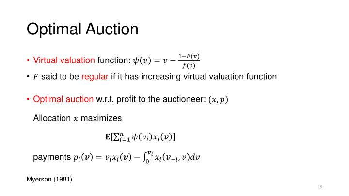 Optimal Auction