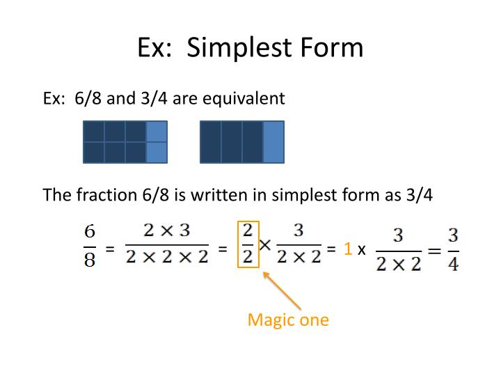 Ex:  Simplest Form