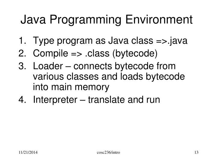 Java Programming Environment