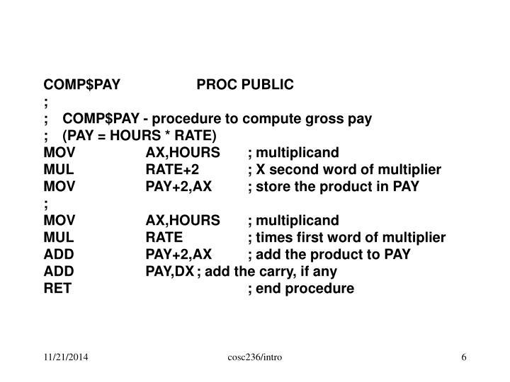 COMP$PAYPROC PUBLIC
