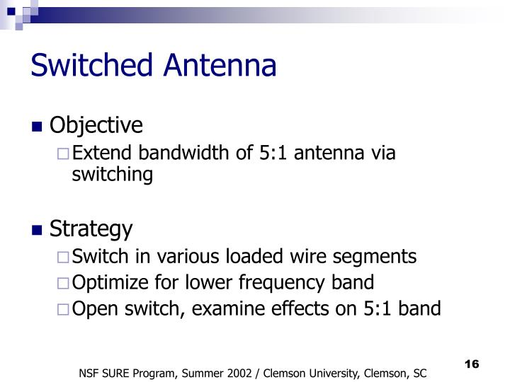 Switched Antenna