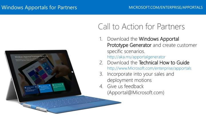 Windows Apportals for