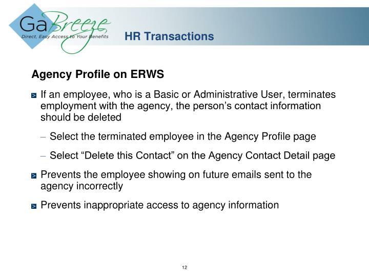 HR Transactions