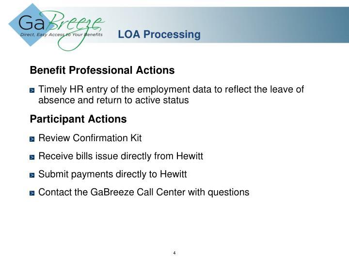 LOA Processing