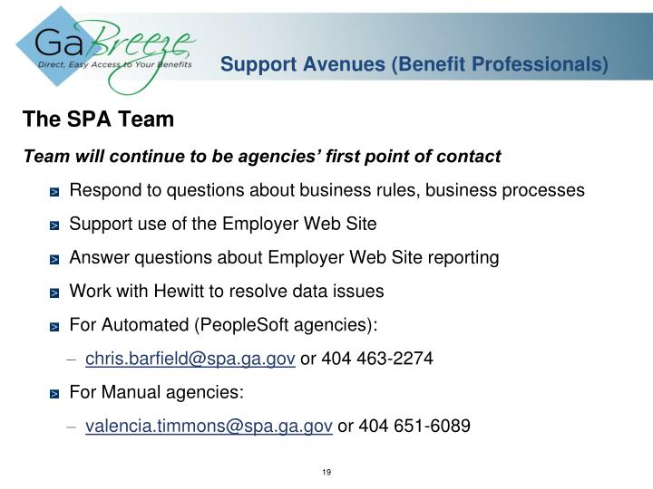 Support Avenues (Benefit Professionals)