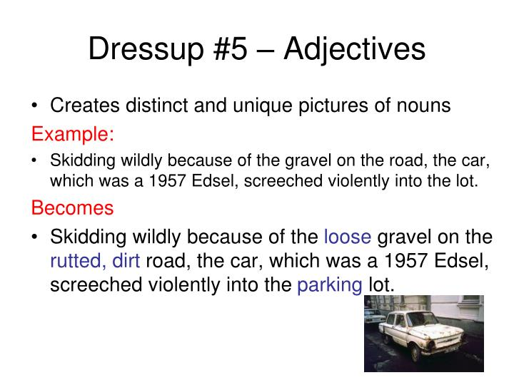 Dressup #5 – Adjectives