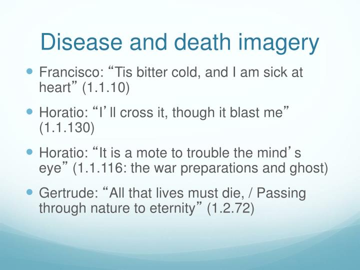 Disease and death imagery